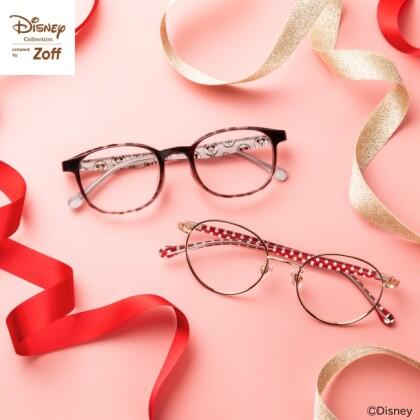 【ミニーデザインのメガネで春の装い】