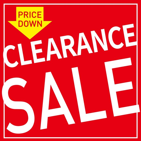 CLEARANCE SALE開催中